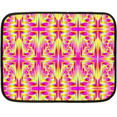 Pink And Yellow Rave Pattern Fleece Blanket (mini)