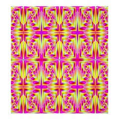 Pink and Yellow Rave Pattern Shower Curtain 66  x 72  (Large)