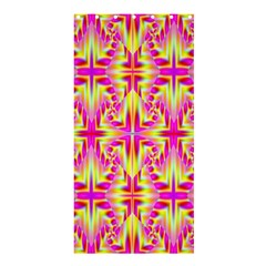 Pink and Yellow Rave Pattern Shower Curtain 36  x 72  (Stall)