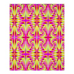 Pink and Yellow Rave Pattern Shower Curtain 60  x 72  (Medium)