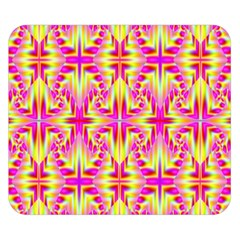 Pink And Yellow Rave Pattern Double Sided Flano Blanket (small)