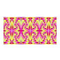 Pink and Yellow Rave Pattern Satin Wrap