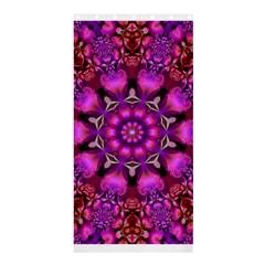 Pink Fractal Kaleidoscope  Shower Curtain 36  X 72  (stall)