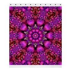 Pink Fractal Kaleidoscope  Shower Curtain 60  X 72  (medium)