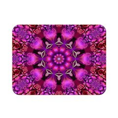 Pink Fractal Kaleidoscope  Double Sided Flano Blanket (Mini)