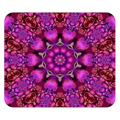 Pink Fractal Kaleidoscope  Double Sided Flano Blanket (Small)