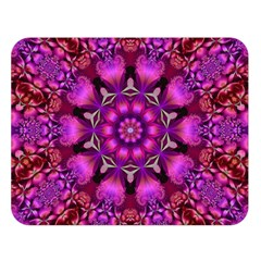 Pink Fractal Kaleidoscope  Double Sided Flano Blanket (Large)