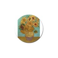 Vincent Willem Van Gogh, Dutch   Sunflowers   Google Art Project Golf Ball Marker (4 Pack)