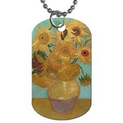 Vincent Willem Van Gogh, Dutch   Sunflowers   Google Art Project Dog Tag (two Sides)