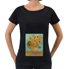Vincent Willem Van Gogh, Dutch   Sunflowers   Google Art Project Women s Loose Fit T Shirt (black)