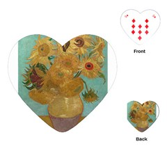 Vincent Willem Van Gogh, Dutch   Sunflowers   Google Art Project Playing Cards (Heart)