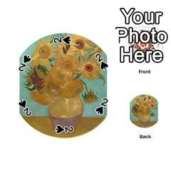 Vincent Willem Van Gogh, Dutch   Sunflowers   Google Art Project Playing Cards 54 (Round)