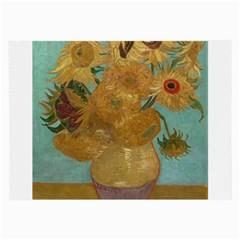 Vincent Willem Van Gogh, Dutch   Sunflowers   Google Art Project Large Glasses Cloth