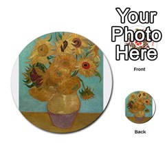 Vincent Willem Van Gogh, Dutch   Sunflowers   Google Art Project Multi Purpose Cards (round)