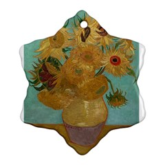 Vincent Willem Van Gogh, Dutch   Sunflowers   Google Art Project Ornament (Snowflake)