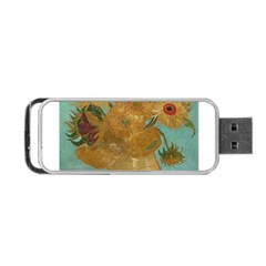 Vincent Willem Van Gogh, Dutch   Sunflowers   Google Art Project Portable USB Flash (Two Sides)