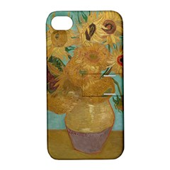 Vincent Willem Van Gogh, Dutch   Sunflowers   Google Art Project Apple Iphone 4/4s Hardshell Case With Stand