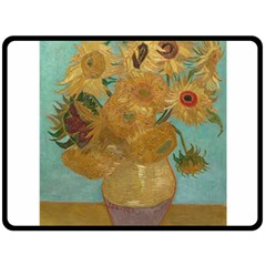 Vincent Willem Van Gogh, Dutch   Sunflowers   Google Art Project Double Sided Fleece Blanket (Large)