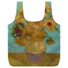 Vincent Willem Van Gogh, Dutch   Sunflowers   Google Art Project Full Print Recycle Bags (L)