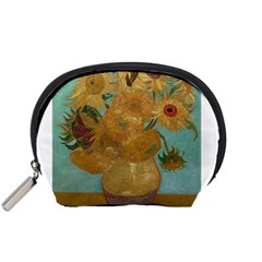 Vincent Willem Van Gogh, Dutch   Sunflowers   Google Art Project Accessory Pouches (small)