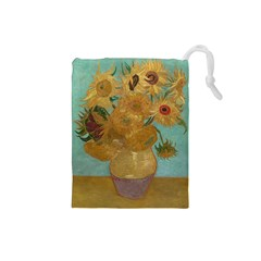 Vincent Willem Van Gogh, Dutch   Sunflowers   Google Art Project Drawstring Pouches (Small)