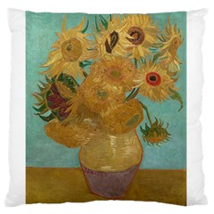 Vincent Willem Van Gogh, Dutch   Sunflowers   Google Art Project Large Flano Cushion Cases (Two Sides)