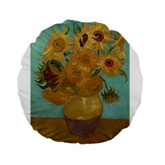 Vincent Willem Van Gogh, Dutch   Sunflowers   Google Art Project Standard 15  Premium Flano Round Cushions