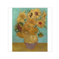 Vincent Willem Van Gogh, Dutch   Sunflowers   Google Art Project Small Satin Scarf (Square)
