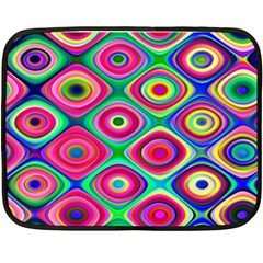 Psychedelic Checker Board Fleece Blanket (Mini)