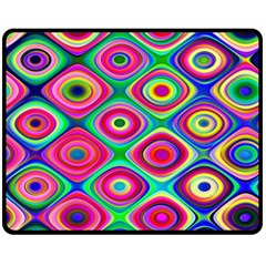 Psychedelic Checker Board Fleece Blanket (medium)