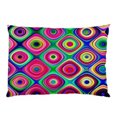 Psychedelic Checker Board Pillow Cases (two Sides)