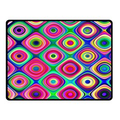 Psychedelic Checker Board Double Sided Fleece Blanket (small)