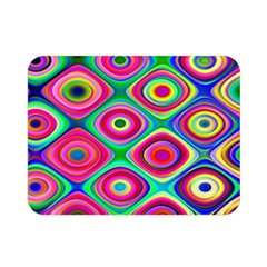 Psychedelic Checker Board Double Sided Flano Blanket (Mini)