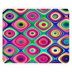 Psychedelic Checker Board Double Sided Flano Blanket (Small)