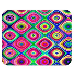 Psychedelic Checker Board Double Sided Flano Blanket (Medium)