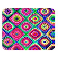 Psychedelic Checker Board Double Sided Flano Blanket (Large)