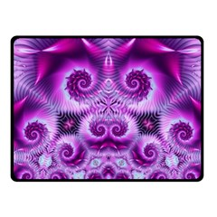 Purple Ecstasy Fractal Artwork Fleece Blanket (small)
