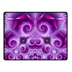 Purple Ecstasy Fractal Artwork Double Sided Fleece Blanket (small)