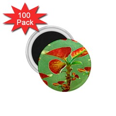 Tropical Floral Print 1 75  Magnets (100 Pack)