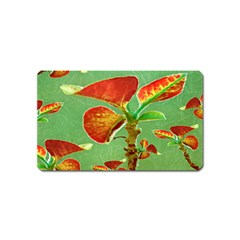 Tropical Floral Print Magnet (name Card)