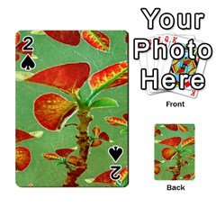 Tropical Floral Print Playing Cards 54 Designs