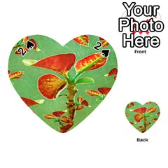 Tropical Floral Print Playing Cards 54 (heart)