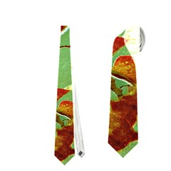 Tropical Floral Print Neckties (One Side)