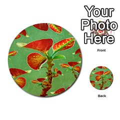 Tropical Floral Print Multi Purpose Cards (round)