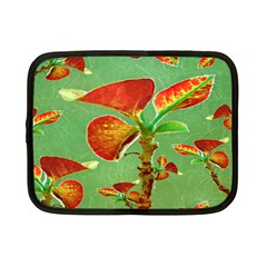 Tropical Floral Print Netbook Case (small)