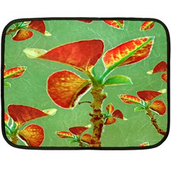 Tropical Floral Print Fleece Blanket (mini)