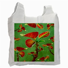 Tropical Floral Print Recycle Bag (one Side)