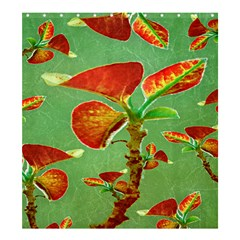 Tropical Floral Print Shower Curtain 66  x 72  (Large)