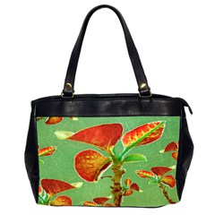 Tropical Floral Print Office Handbags (2 Sides)
