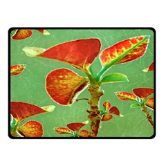 Tropical Floral Print Fleece Blanket (Small)